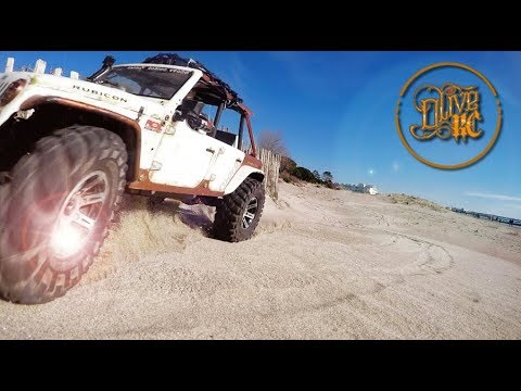 RC JEEP RUBICON Pickup  - BEACH BASHING