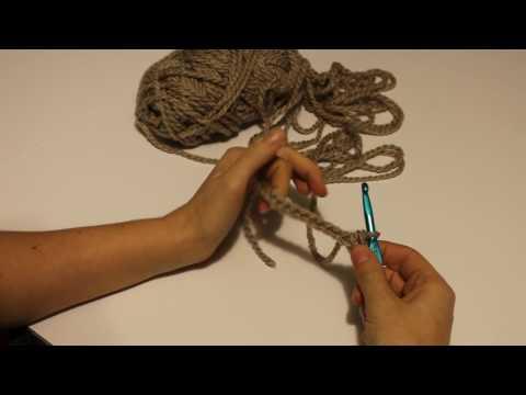How To: Crochet (Lesson 2) Single Crochet, learn to single crochet, sc
