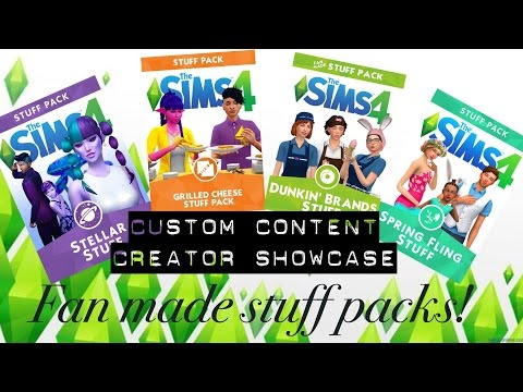 Sims 4 Custom Content Creator Showcase: Fan Made Stuff Packs!