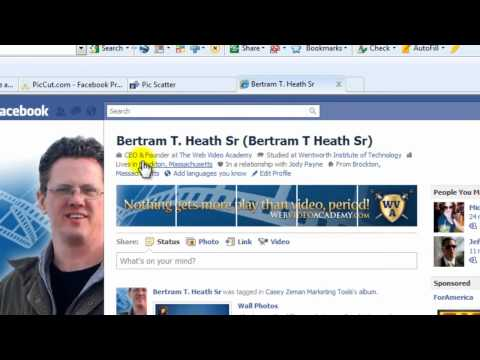 How To Add Sequential Thumbnail Images To Your Facebook Profile - Part 1