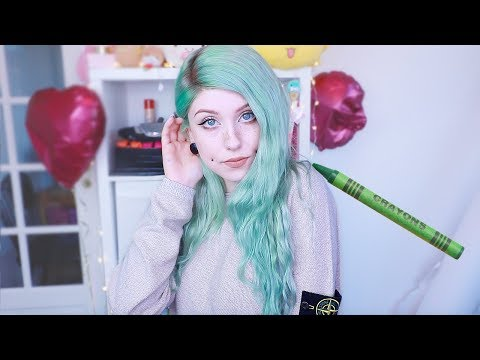 DIY Crayon Green Hair