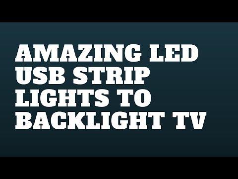 Amazing LED USB Strip Lights to Backlight TV