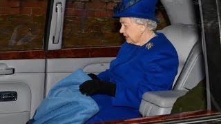Queen Elizabeth seen in public for first time in a month since a heavy cold