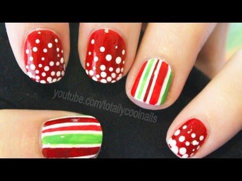 Easy Festive Nail Art