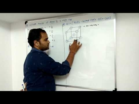 Calculate Number of atoms in unit cell