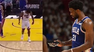 Justise Winslow BREAKS Joel Embiid's Face Mask! Where Was The Technical?!   2018 NBA Playoffs