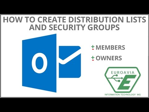 How to create distribution lists and security groups and how to add/remove members
