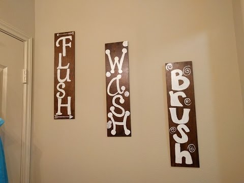 DIY Bathroom Decor/Sign