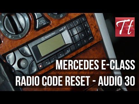 Mercedes E Class Enter Radio Code / Reset Tutorial (Audio 30)