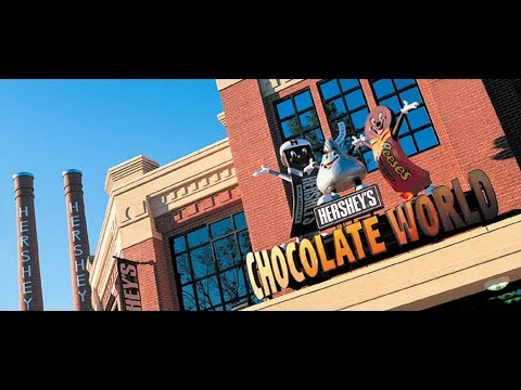 HERSHEY PARK CHOCOLATE WORLD FACTORY TOUR THEME PARK ATTRACTION RIDE. HERSHEY, PENNSYLVANIA