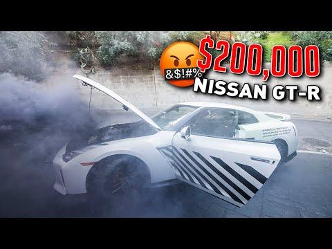I RUINED FaZe Adapt's $200,000 NISSAN GTR *Live Footage*