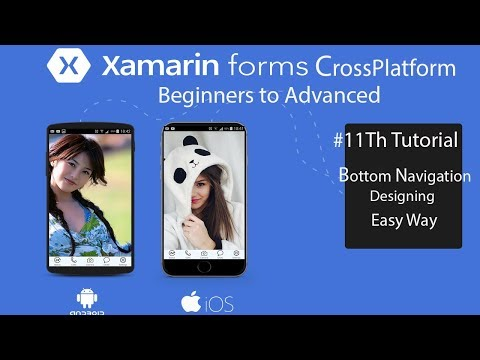 Xamarin Forms Bottom Navigation Easy Steps[Tutorial 11]