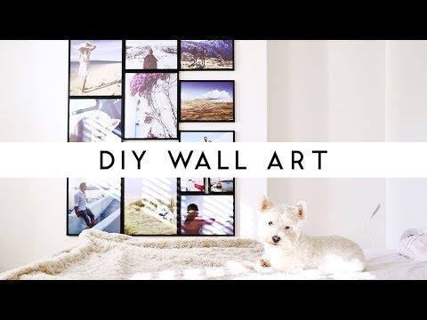DIY WALL ART   PHOTO COLLAGE FOR ROOM DECOR   Szilvia Bodi
