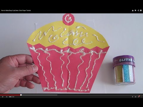 How to Make Easy CupCakes: Color Paper Tutorial - Lana3LW