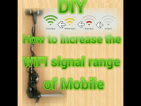 DIY how to increase WiFi range of your Mobile