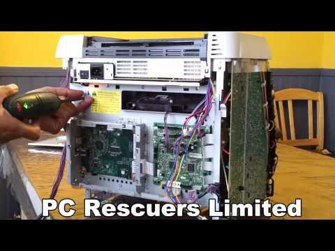 HP Laser Printer 2600n Lense Cleaning