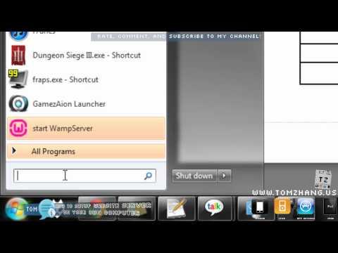 How to Setup Website Server on Windows using WAMP ( Windows Apache MySQL PHP ) HD