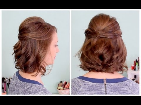 Quick Half Up Hairstyle for Short Hair