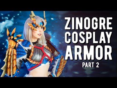LED Zinogre Armor Part 2 - Monster Hunter