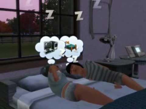 My Little Sims 3 Family :3 (Nikki And Den Sleeping)