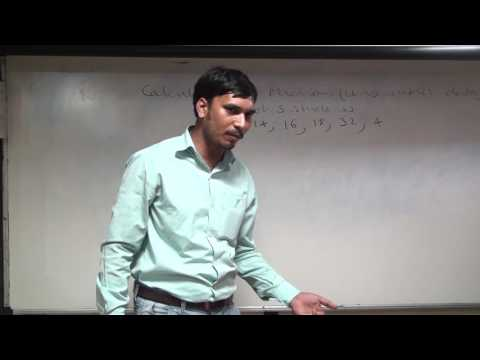 Calculation of Median Ungrouped data by Law Kumar