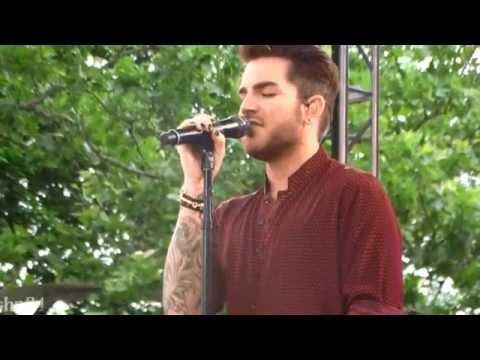 Adam Lambert - Good Morning America soundcheck - New York City 6/19/15