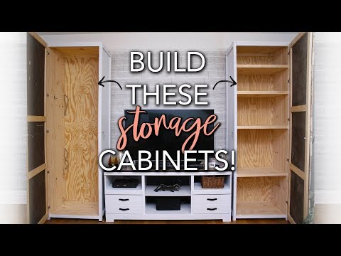 DIY Wood Storage Cabinet