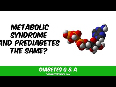 Is Prediabetes The Same Thing As Metabolic Syndrome Or Syndrome X?