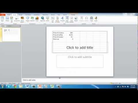 How to Link Excel worksheet to PowerPoint 2010