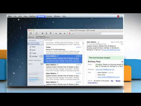 How to Redirect messages in Mail app of Mac® OS X™