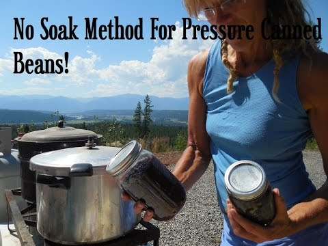 Pressure Canning Beans~ NO SOAK METHOD!