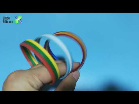 silicone wristbands with logo / silicone bracelets 4imprint