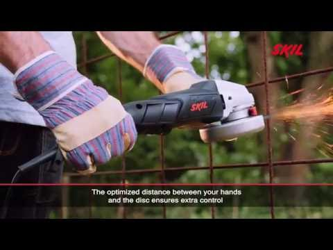 Angle grinders with a slim rear handle have several advantages