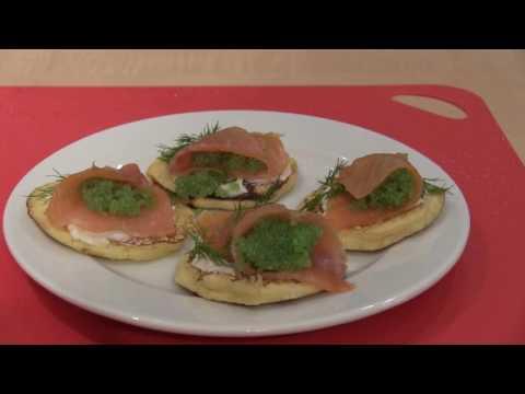 Classic Buckwheat Blinis with Smoked Salmon and Wasibi Caviar