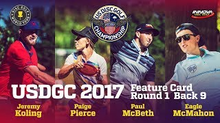 Usdgc 2017 Feature Card Round 1 Back 9