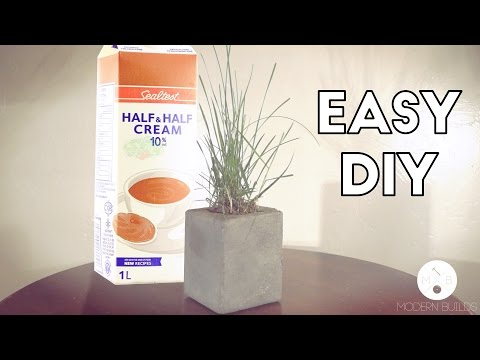 DIY Milk Carton Concrete Planter | Modern Builds | EP. 7