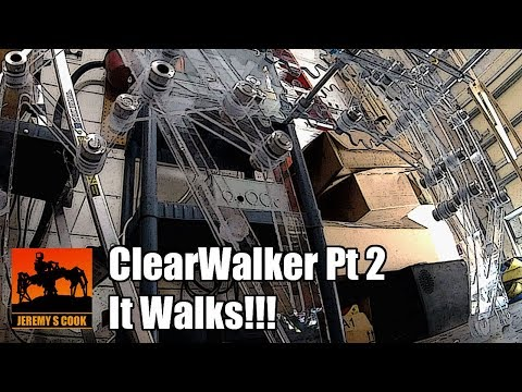 ClearWalker Strandbeest Assembly (Pt 2) - Now Walking Unsupported!