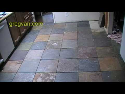 Before Grouting Kitchen Tile Floor - Expert Home Remodeling Advice