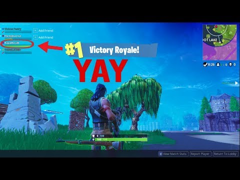 Fortnite - I WON FOR THE FIRST TIME!