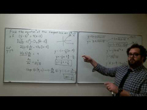 Section 3.5 - Exercise 12 - How to find the equation of a tangent line of an implicit equation
