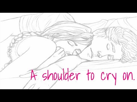 ASMR Boyfriend Roleplay • A shoulder to cry on. • ( Giggles ) • ( Kisses ) • ( Comforting )