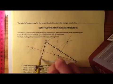 Perpendicular Bisectors of a Triangle