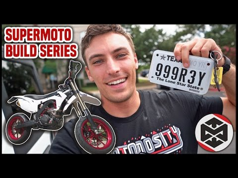 Making a Dirt Bike STREET LEGAL!! [Supermoto Build Part 15]