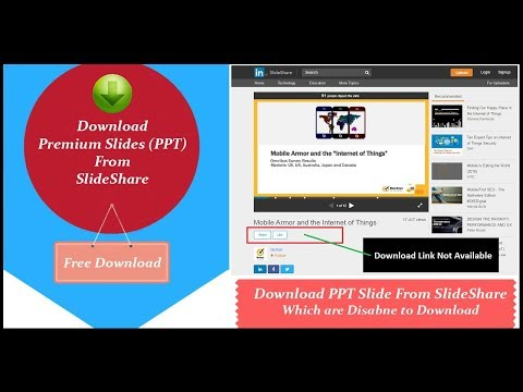 How to Download Slide (PPT) From SlideShare Which are Disable to Download || Slideshare Download