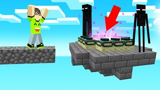 I Found The END PORTAL In SKY BLOCK! (Minecraft)