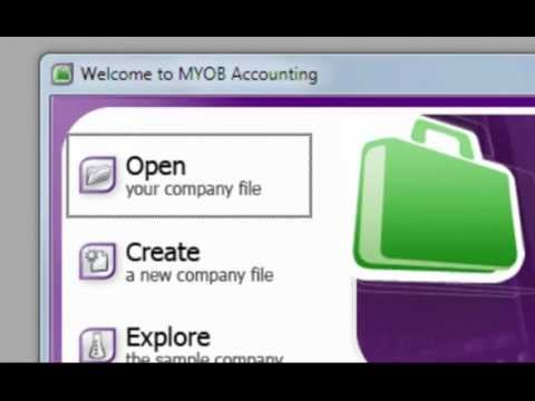 How to Restore a MYOB Back-up File