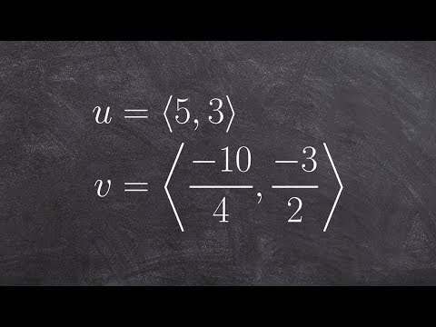 Pre-Calculus - Learn how to determine if two vectors are parallel, orthogonal or neither