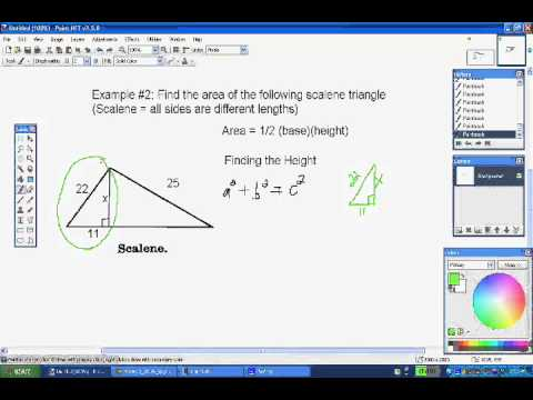 Finding Height Using Pythagorean Theorem