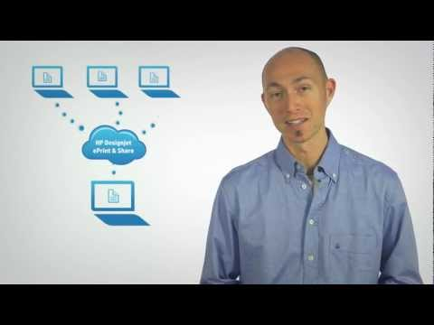 HP Designjet Sharing your online print history