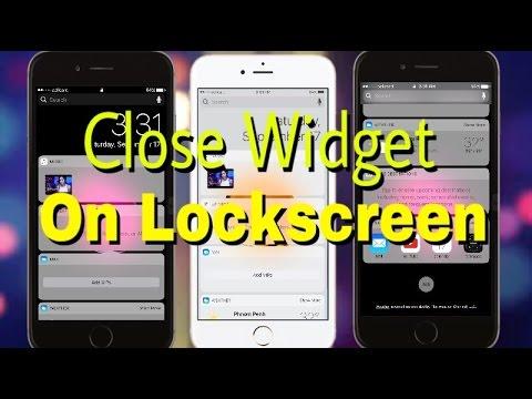 How To Close Widget On LockScreen iOS 10/10.0.1 on iPhone - iPad - iPod